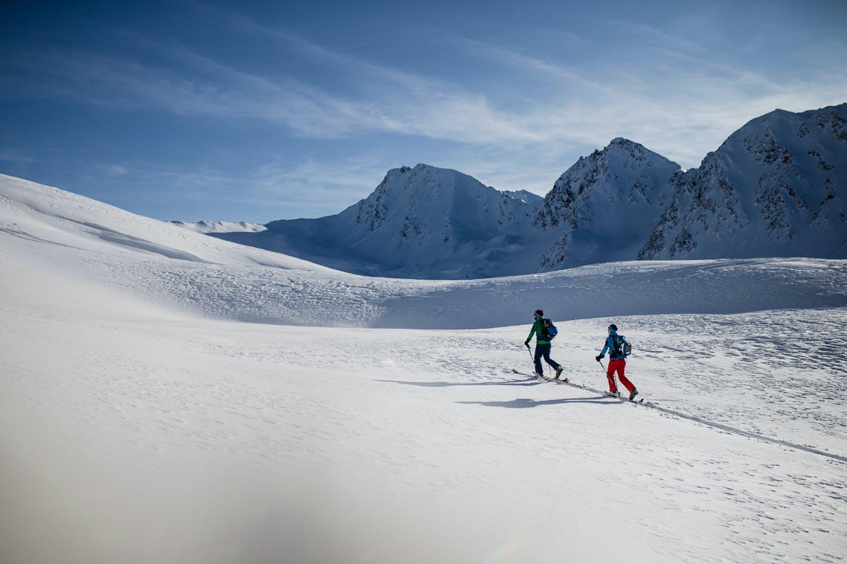 Vaude Skitourenbekleidung Damen und Herren