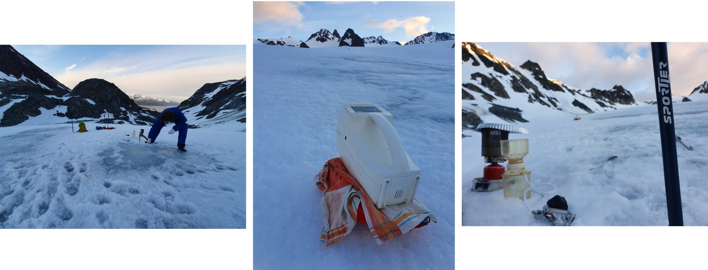 Microplastic Sampling Kongsvegen Glacier