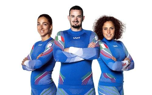 Sofia Goggia, Dominik Paris und Federica Brignone tragen Skiunterwäsche von UYN