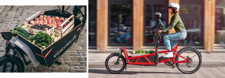 E-Carbo Bikes bieten sich an für innerstädtische Lieferungen