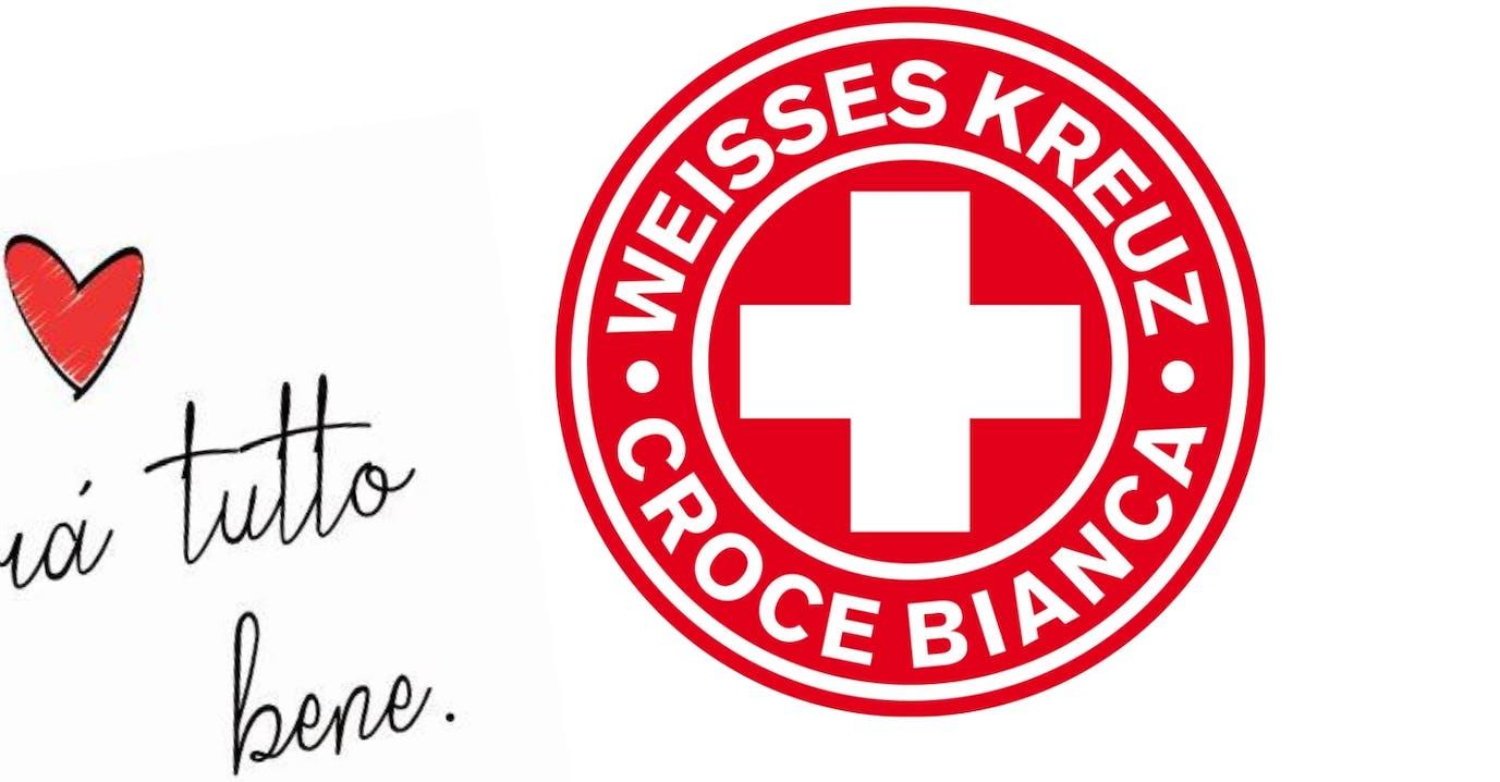 andra tutto bene - charity aktion weißes kreuz