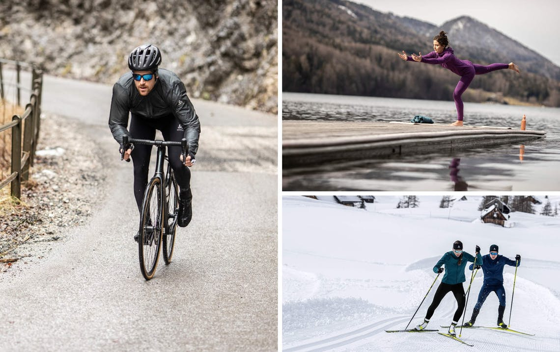 Funktionsunterwäsche im Winter beim Biken, Yoga, Langlaufen