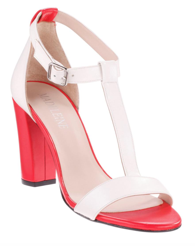 Sandalette mit T-Steg und Blockabsatz