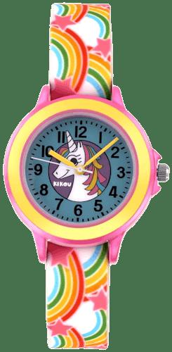 Cette montre KIKOU se compose d'un Boîtier Rond de 34.5 Mm et d'un bracelet en Silicone  -
