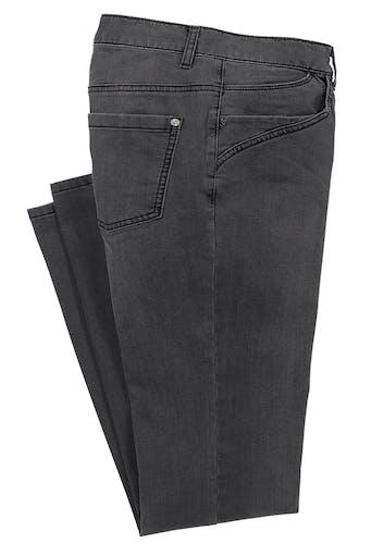 Graue Jeans mit Taschen.