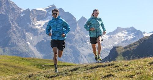Endurance runner and TEAM TSL athlete Maxime Grenot trail tests the new ODLO FLI hardshell