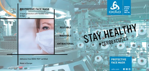 COVID-19 ACTION: ODLO launches production of Face Masks to help Europe stay healthy