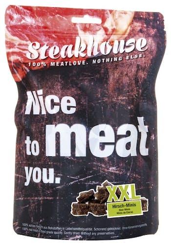 Fleischeslust - Hundesnack - Steakhouse Hirsch Minis S luftgetrocknet 100g (getreidefrei)