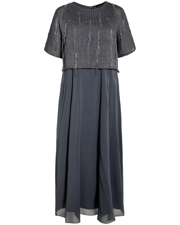 Fabiana Filippi, Seidenkleid, blue, Dress, Spring/Summer Looks 2018, Lodenfrey, Munich