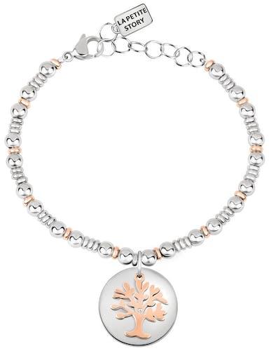 Bracelet LA PETITE STORY en Acier Bicolore et Cristal