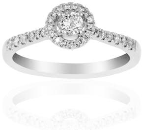 Solitaire LADY DIAMONDS LA PROMESSE en Or 750/1000 Blanc et Diamant