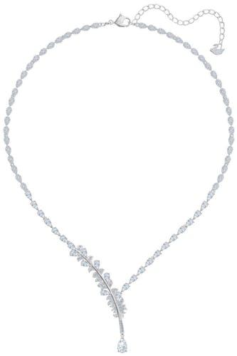 Ce Collier SWAROVSKI est en Métal et Cristal Blanc