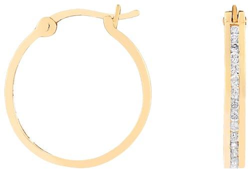 Boucles d'oreilles CLEOR en Or 750/1000 Jaune et Diamant