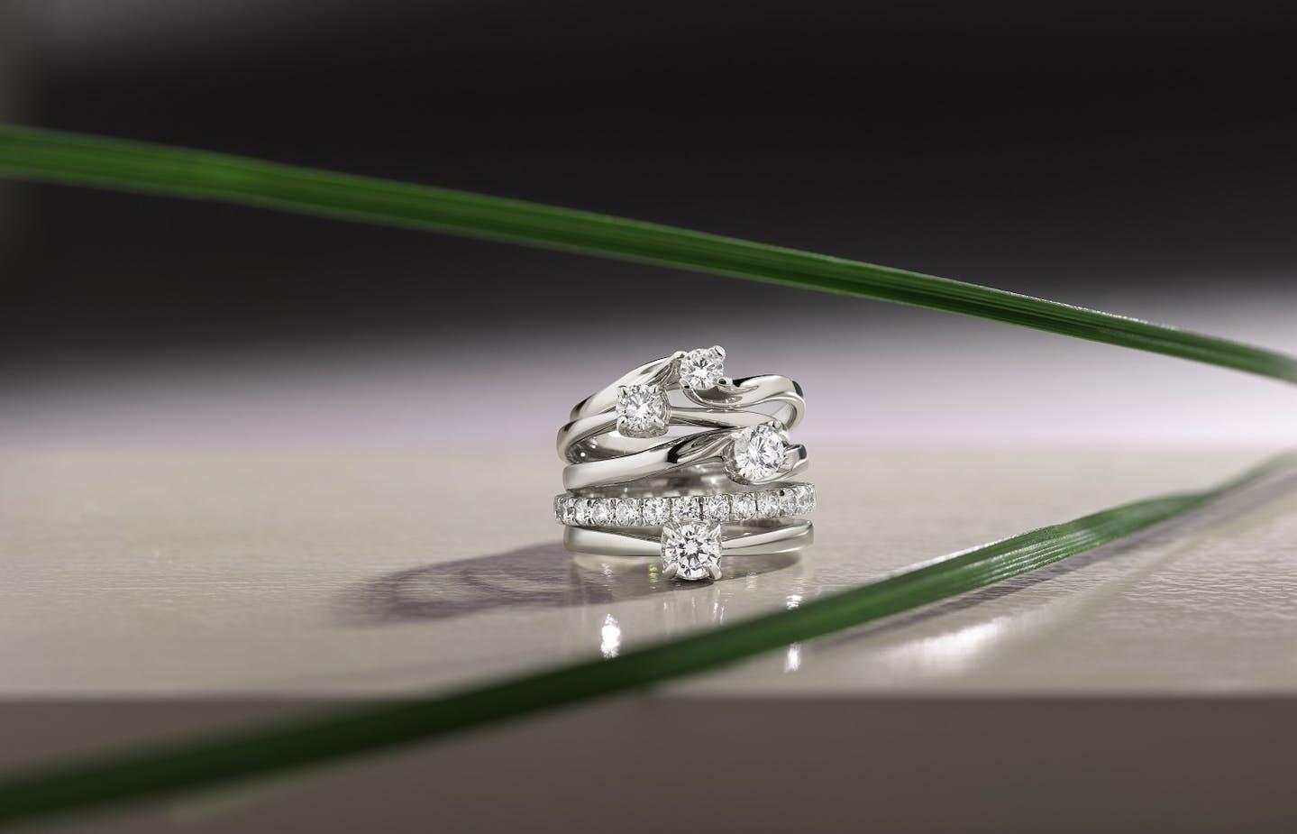 Bagues Live Diamond diamants synthétiques