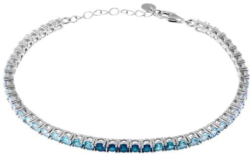 Ce Bracelet CLEOR est en Argent 925/1000 et Oxyde Bleu