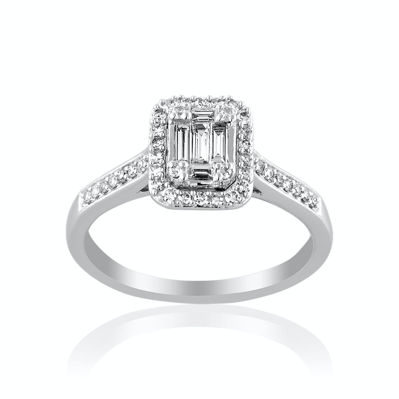 Solitaire LADY DIAMONDS LA CHARLOTTE en Or 750/1000 Blanc et Diamant