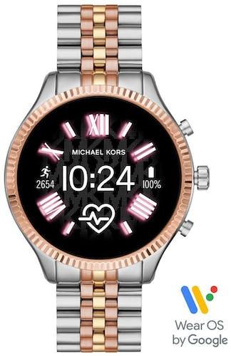 Cette montre MICHAEL KORS ACCESS se compose d'un boîtier Rond de 51 mm et d'un bracelet en Acier Bicolore