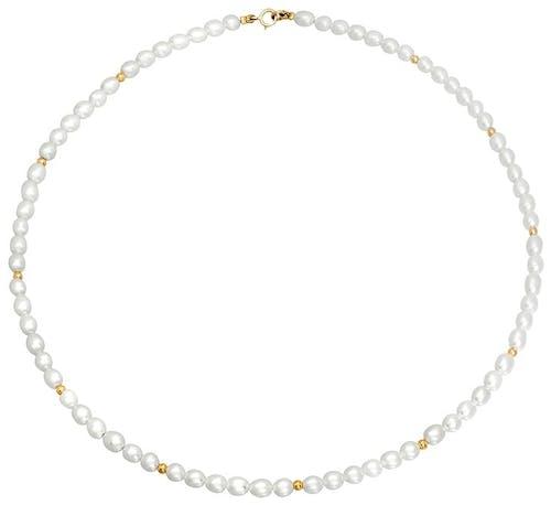 Ce Collier CLEOR est en Or 750/1000 Jaune et Perle de culture Blanche  -