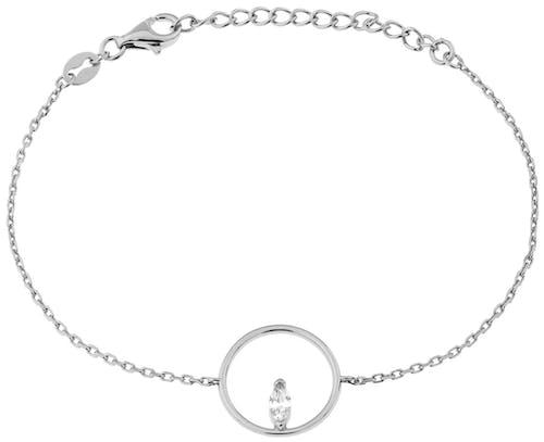 Ce Bracelet CLEOR est en Argent 925/1000 et Oxyde