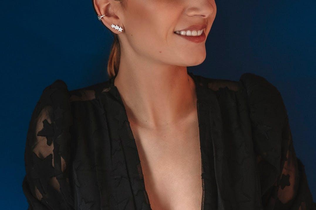 Boucles d'oreilles individuelles LA PETITE STORY en Laiton