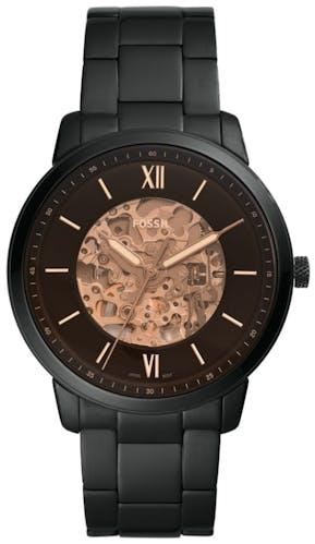 Cette Montre FOSSIL pour Homme se compose d'un Boîtier Rond de 44 mm et d'un Bracelet en Acier Inoxydable Noir