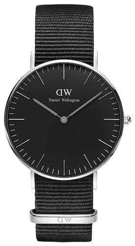 Montre Homme Analogique DANIEL WELLINGTON en 36 mm et Nylon Noir - CLEOR