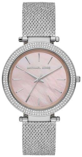Cette montre MICHAEL KORS se compose d'un boîtier Rond de 39 mm et d'un bracelet en Acier Gris