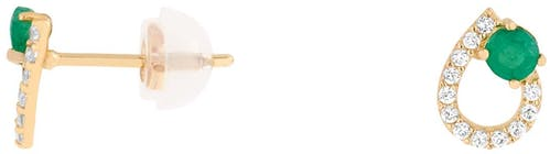 Ces Boucles d'oreilles CLEOR sont en Or 375/1000 Jaune et Emeraude