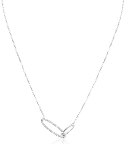 Ce Collier CLEOR est en Argent 925/1000 et Oxyde Blanc