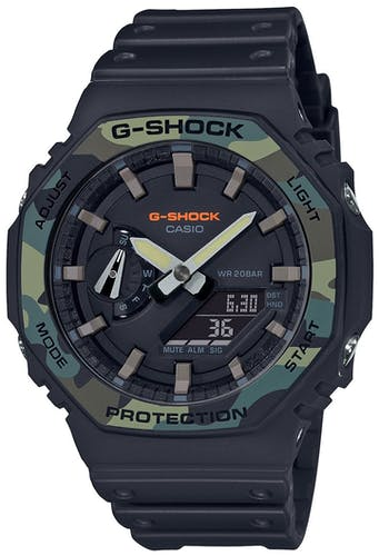 Montre Homme Analogique G-SHOCK en 48.5 mm et Résine Noire - CLEOR