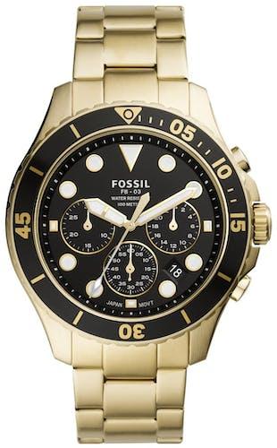 Cette Montre FOSSIL pour Homme se compose d'un Boîtier Rond de 46 mm et d'un Bracelet en Acier Inoxydable Jaune