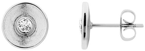 Ces Boucles d'oreilles MISSISSIPI sont en Acier Blanc et Oxyde Blanc