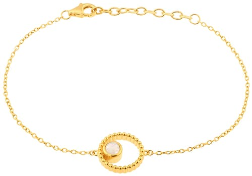 Ce Bracelet YUCATÁN est en Plaqué Or et Pierre de Lune