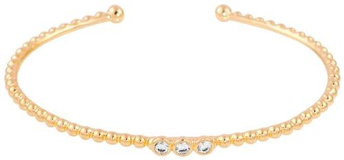Ce Bracelet CLEOR est en Plaqué Or Jaune et Oxyde Blanc