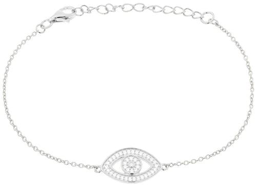 Ce Bracelet CLEOR est en Argent 925/1000 Blanc et Oxyde Blanc