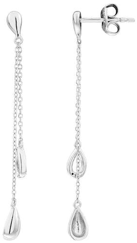 Boucles d'oreilles CLEOR en Or 375/1000 Blanc et Diamant