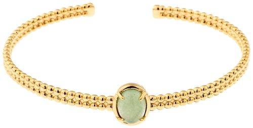 Bracelet Femme avec Aventurine Verte YUCATÁN - CLEOR