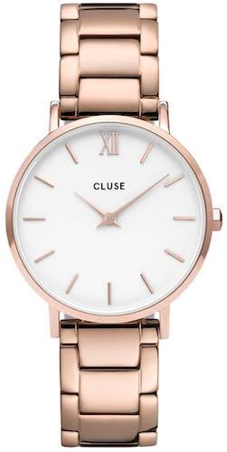 Cette montre CLUSE se compose d'un boîtier Rond de 33 mm et d'un bracelet en Acier Rose