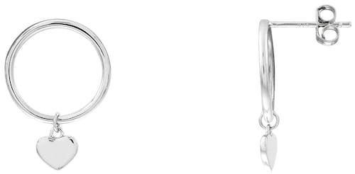 Ces Boucles d'oreilles CLEOR sont en Argent 925/1000 Blanc