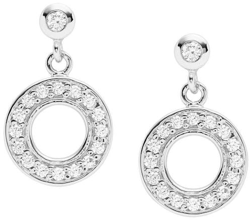 Boucles d'oreilles FOSSIL en Argent 925/1000 et Cristal