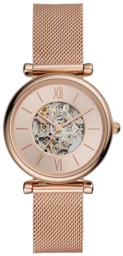 Cette montre FOSSIL se compose d'un boîtier Rond de 35 mm et d'un bracelet en Acier Rose