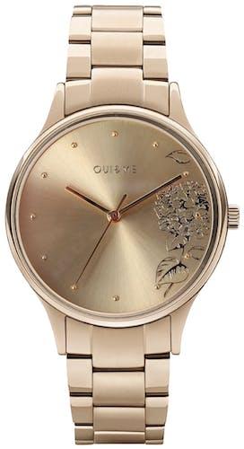 Cette montre OUI&ME se compose d'un boîtier Rond de 32 mm et d'un bracelet en Acier et PVD Jaune