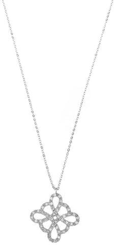 Collier CLEOR en Or 375/1000 Blanc et Diamant