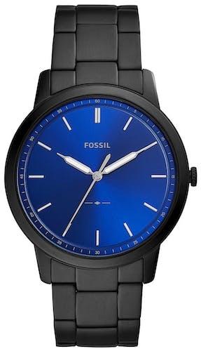 Cette montre FOSSIL se compose d'un boîtier Rond de 44 mm et d'un bracelet en Acier Noir