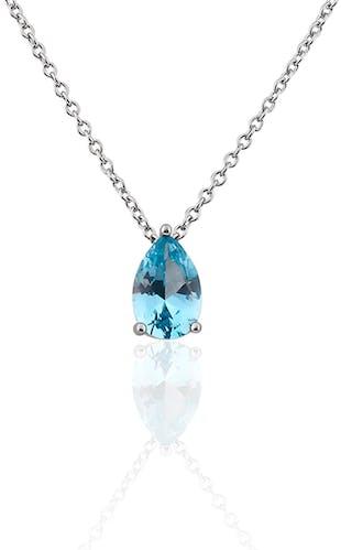 Ce Collier CLEOR est en Argent 925/1000 et Oxyde Bleu