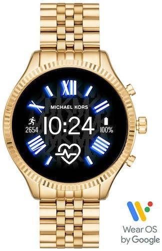 Cette montre MICHAEL KORS ACCESS se compose d'un boîtier Rond de 51 mm et d'un bracelet en Acier Jaun
