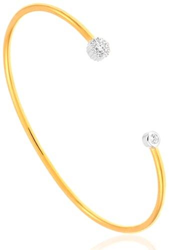 Ce Bracelet L'ADORÉE est en Argent 925/1000 Bicolore et Oxyde Blanc