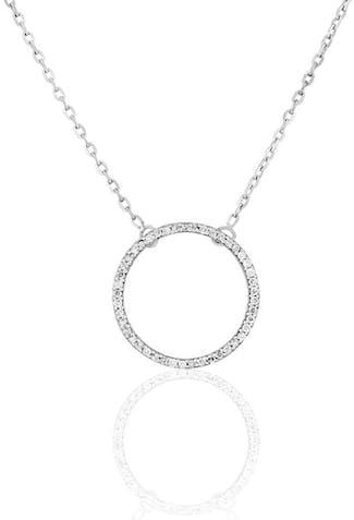 Collier CLEOR en Or 750/1000 Blanc et Diamant