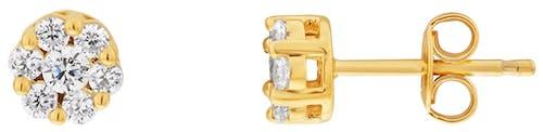 Boucles d'oreilles LADY DIAMONDS en Or 750/1000 Jaune et Diamant