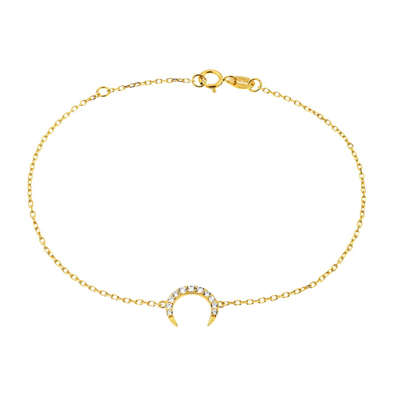 Bracelet JULIETTE en Or 375/1000 Jaune et Oxyde